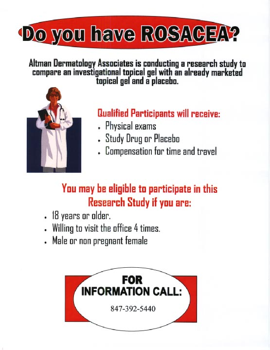 Do You Have Rosacea? flyer