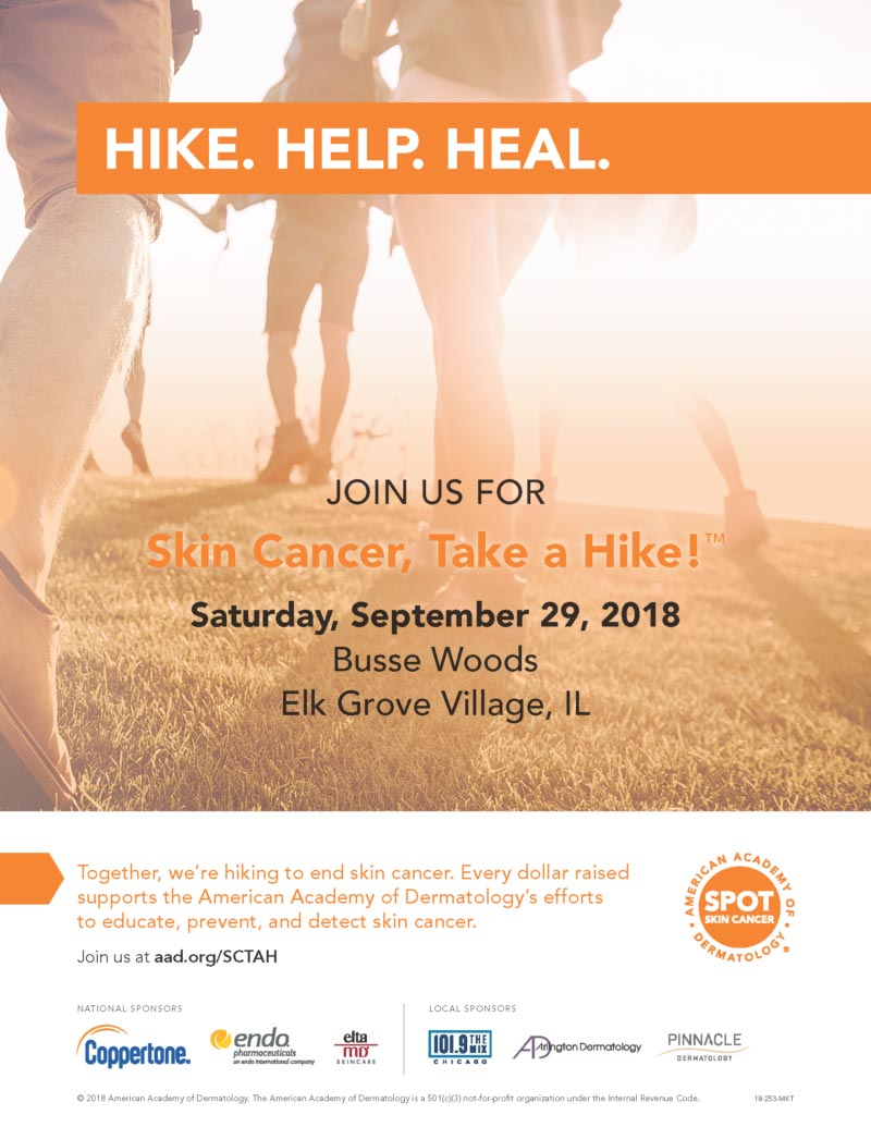 Skin Cancer, Take a Hike! flyer