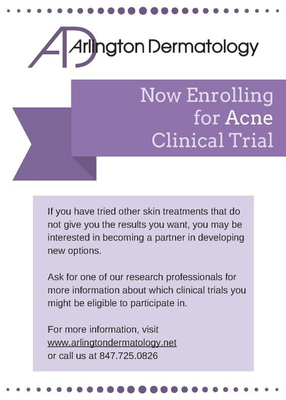 Acne Clinical Trial flyer