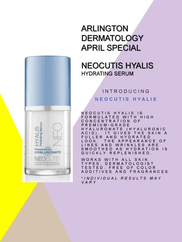 April Special Neocutis Hyalis hydrating serum flyer