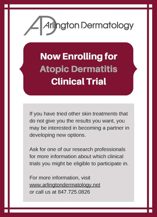 Atopic Dermatitis clinical trial flyer