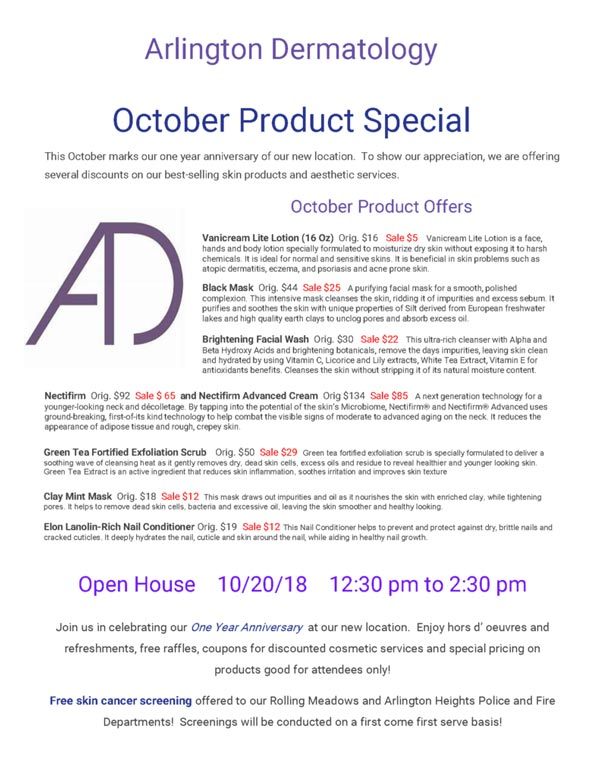 October product special flyer