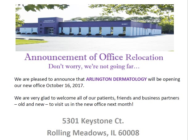 announcement of office relocation