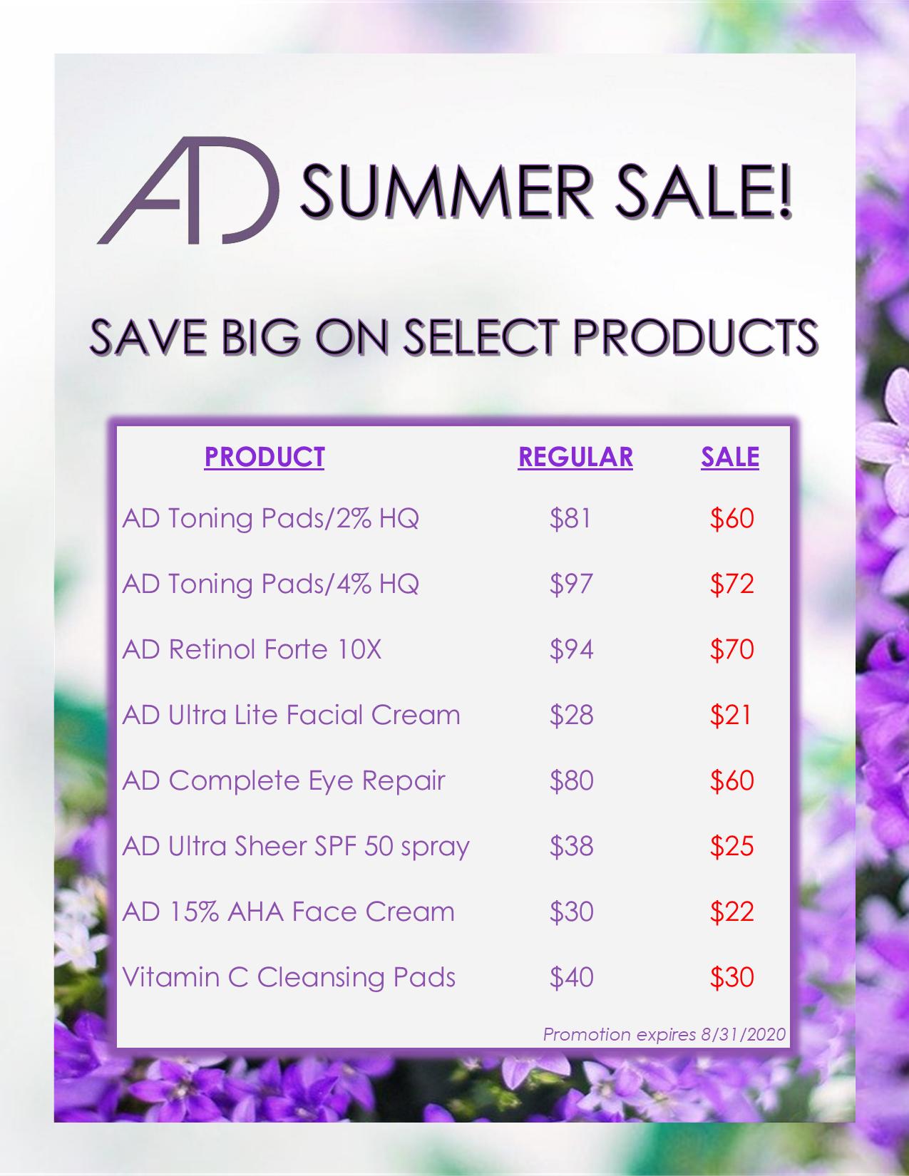 Summer 2020 Product Specials